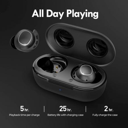Casti audio In-Ear Mpow M30 TWS, Bas Clar, IPX8, 25 ore, USB-C, True Wireless, Bluetooth 5.0, TWS [4]