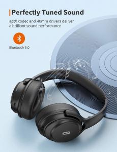 Casti audio TaoTronics TT-BH085, Active Noise canceling, Bluetooth 5.0, Bas puternic,True Wireless, Microfon CVC 8.04