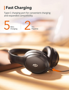 Casti audio TaoTronics TT-BH090, Hybrid Active Noise Canceling, Bluetooth 5.0, Bas puternic,True Wireless, Autonomie 35 ore1