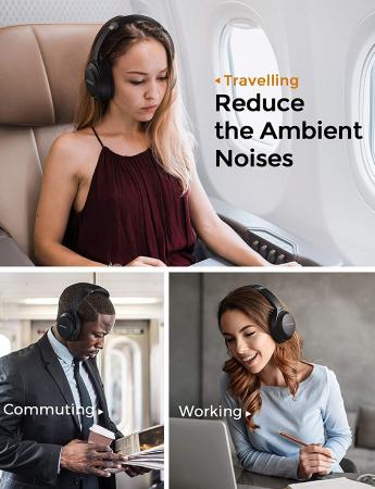 Casti audio Mpow H12 IPO, Active Noise Canceling, Bluetooth 5.0, USB-C, Bas puternic, Microfon CVC8.0, Autonomie 40 ore, True Wireless [1]