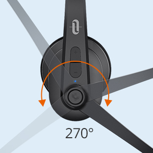Casti wifi TaoTronics TT-BH041, Microfon, AI Noise Cancelling, Call Center, Bluetooth 5.0, functionare 34 ore4
