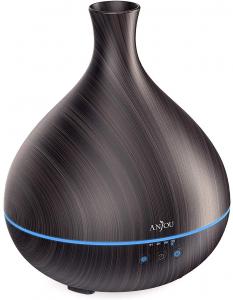 Difuzor aroma cu Ultrasunete Anjou AJ-AD012, 500ml, LED, oprire automata - Wenge1