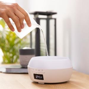 Difuzor aroma cu Ultrasunete Smart Cecotec PureAroma 550 Connected, control din Smartphone, 7 culori LED, boxa incorporata - Stejar [4]