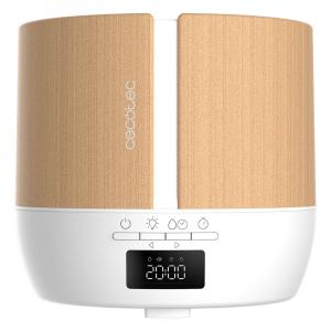 Difuzor aroma cu Ultrasunete Smart Cecotec PureAroma 550 Connected, control din Smartphone, 7 culori LED, boxa incorporata - Stejar [1]