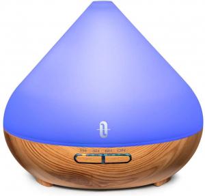 Difuzor aroma cu Ultrasunete TaoTronics TT-AD002, 300ml, 13W, LED 7 culori, oprire automata - Nuc natur9