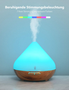 Difuzor aroma cu Ultrasunete TaoTronics TT-AD002, 300ml, 13W, LED 7 culori, oprire automata - Nuc natur2
