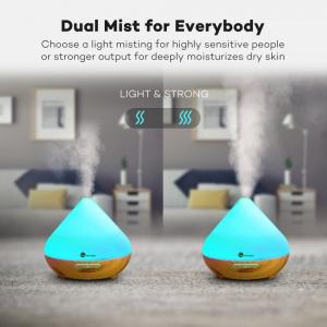 Difuzor aroma cu Ultrasunete TaoTronics TT-AD002, 300ml, 13W, LED 7 culori, oprire automata - Nuc natur6