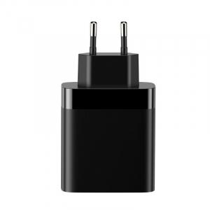 Incarcator USB Premium Baseus Mirror Lake Digital Display 4x Usb Travel Charger 30w 6a ,negru3