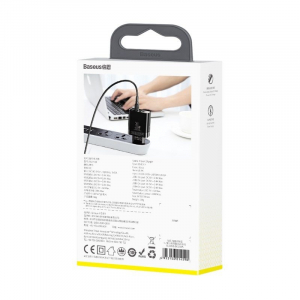 Incarcator USB Premium Baseus Mirror Lake Digital Display 4x Usb Travel Charger 30w 6a ,negru [6]