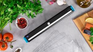 Aparat de vidat Cecotec FoodCare SealVac 600 Easy, 85 W, Presiune vid 0.6 bar, Vidare rapida ~10 secunde, Iluminare LED, Design compact, Silentios, Negru/Albastru [3]