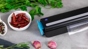 Aparat de vidat Cecotec FoodCare SealVac 600 Easy, 85 W, Presiune vid 0.6 bar, Vidare rapida ~10 secunde, Iluminare LED, Design compact, Silentios, Negru/Albastru [4]