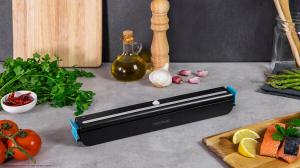 Aparat de vidat Cecotec FoodCare SealVac 600 Easy, 85 W, Presiune vid 0.6 bar, Vidare rapida ~10 secunde, Iluminare LED, Design compact, Silentios, Negru/Albastru [5]