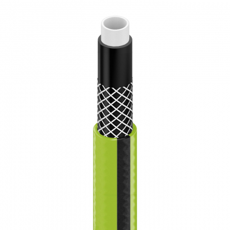 "Set Furtun pentru gradina Cellfast QUATTRO cu 4 straturi, 1/2"", Armat, 15m, protectie UV, stropitor, conector [1]"