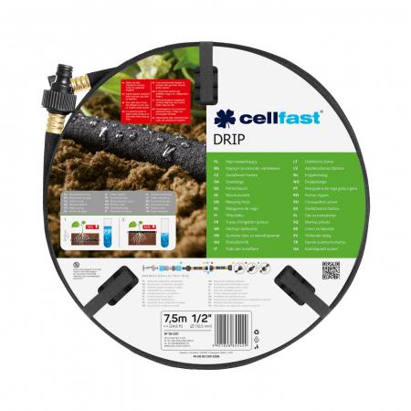 """Furtun pentru irigare poros Cellfast DRIP 1/2"""", lungime 7.5 m [0]"""