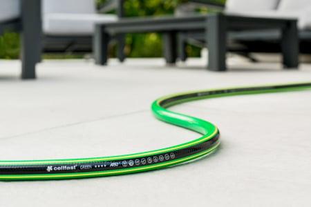 "Furtun pentru gradina Cellfast GREEN cu 5 straturi, 3/4"", Armat, 25m, protectie UV, antirasucire1"