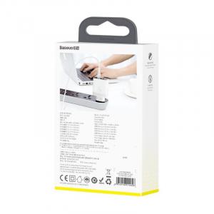 Incarcator USB Premium Baseus Mirror Lake Digital Display 4x Usb Travel Charger 30w 6a ,Alb6