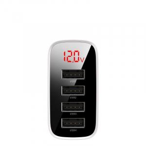 Incarcator USB Premium Baseus Mirror Lake Digital Display 4x Usb Travel Charger 30w 6a ,Alb2