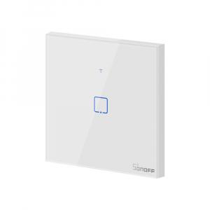 Intrerupator Smart  cu Touch Wifi + RF 433 Sonoff T1 EU TX, 1 canal [1]