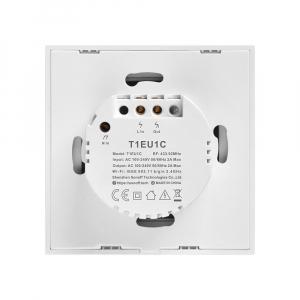 Intrerupator Smart  cu Touch Wifi + RF 433 Sonoff T1 EU TX, 1 canal [2]