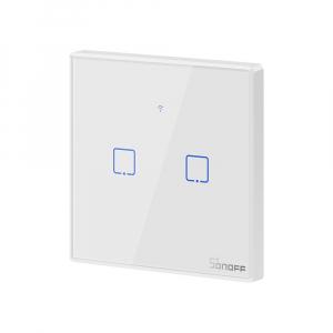 Intrerupator Smart  cu Touch WiFi + RF 433 Sonoff T2 EU TX, (2 canale)1