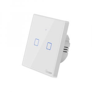 Intrerupator Smart  cu Touch WiFi + RF 433 Sonoff T2 EU TX, (2 canale)2