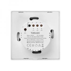 Intrerupator Smart  cu Touch WiFi + RF 433 Sonoff T2 EU TX, (2 canale)3