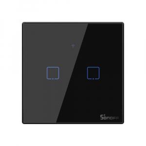 Intrerupator Smart  cu Touch WiFi + RF 433 Sonoff T3 EU TX, (2 canale) [0]