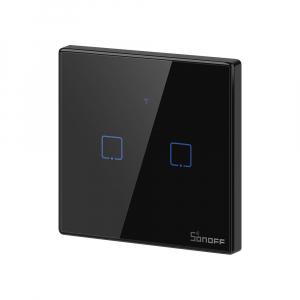 Intrerupator Smart  cu Touch WiFi + RF 433 Sonoff T3 EU TX, (2 canale) [1]