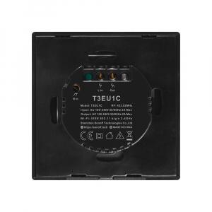 Intrerupator Smart  cu Touch WiFi + RF 433 Sonoff T3 EU TX, 1 canal [2]