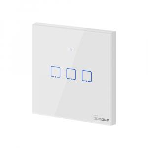Intrerupator Smart  cu Touch Wifi + RF 433 Sonoff T1 EU TX, (3 canale) [4]