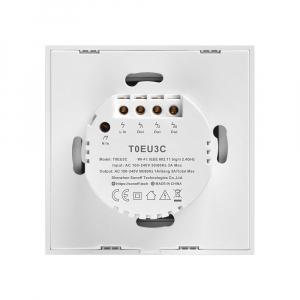 Intrerupator Smart  cu Touch Wifi + RF 433 Sonoff T1 EU TX, (3 canale) [1]