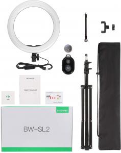 Lampa Circulara LED BlitzWolf BW-SL2 Make up Profesionala, Ring Light 120 Leduri cu Lumina Rece/Calda12