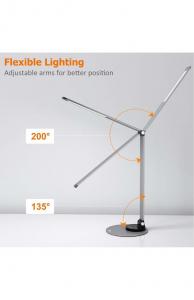 Lampa de birou cu LED TaoTronics TT-DL66, incarcare USB, 6 niveluri de luminozitate - Black2