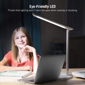 Lampa de birou LED TaoTronics TT DL13 control Touch, 5 moduri, Protectie Ochi - Silver - White1