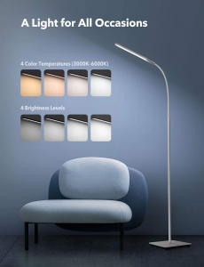 Lampa de podea LED TaoTronics TT-DL072, ajustabile 4 culori de culoare, 4 niveluri de luminozitate - Alba4
