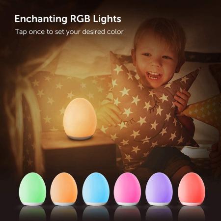 Lampa de veghe VAVA VA-CL009 LED, RGB, cu reglare touch a Intensitatii, lumina calda [1]