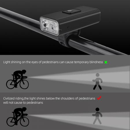 Lanterna LED pentru bicicleta Supfire GT-R3, 1400lumeni, 130m, acumulator 2400 mAh, USB [8]