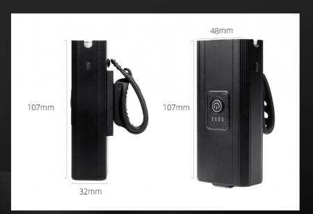 Lanterna LED pentru bicicleta Supfire GT-R3, 1400lumeni, 130m, acumulator 2400 mAh, USB [4]
