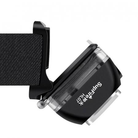 Lanterna LED pentru cap Supfire HL07, 5W, 320 lm, 1200 mAh, senzor de miscare, 5 moduri, incarcare USB, IP67, Negru [3]
