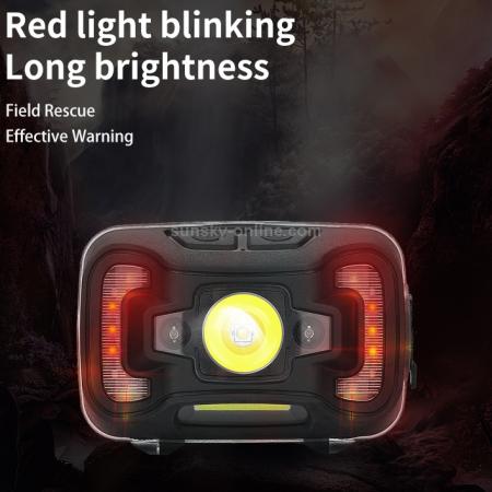 Lanterna LED pentru cap Supfire HL16, 5W, 500 lm, 1800 mAh, senzor de miscare, lumina rosie, incarcare USB, IP44 [4]