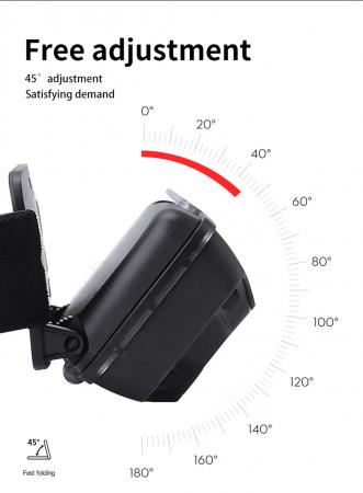 Lanterna LED pentru cap Supfire HL16, 5W, 500 lm, 1800 mAh, senzor de miscare, lumina rosie, incarcare USB, IP44 [2]