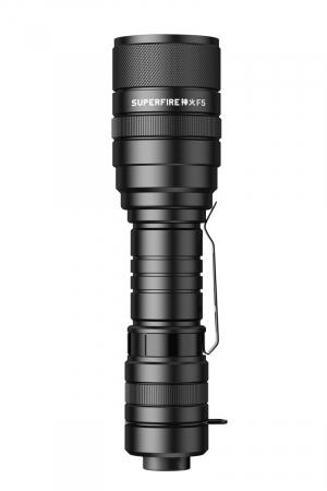Lanterna LED SupFire F5 cu Zoom, 10W, 1100 lm, 5 moduri, rezistenta la apa, incarcare USB, Negru [5]