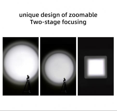 Lanterna LED SupFire F5 cu Zoom, 10W, 1100 lm, 5 moduri, rezistenta la apa, incarcare USB, Negru [7]