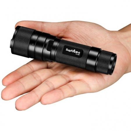 Lanterna LED Supfire F3-L2, ZOOM, 1100lm, 300m, incarcare USB, Negru [2]