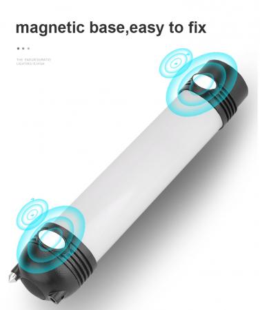 Lanterna LED SupFire T3, Pentru Camping, lumina anti insecte, 3600 mAh, 6 moduri, IP46, incarcare USB, functie Powerbank [13]