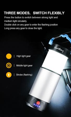 Lanterna LED SupFire T9, Pentru Camping, 800 lm, incarcare USB, PowerBank [5]