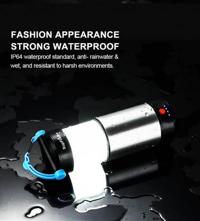 Lanterna LED SupFire T9, Pentru Camping, 800 lm, incarcare USB, PowerBank [7]