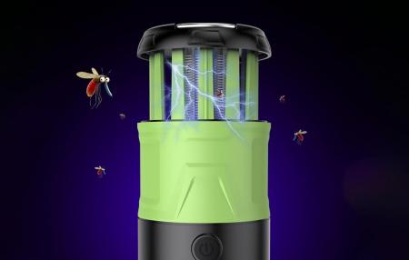 Lanterna LED SupFire T15, Pentru Camping, 500 lm, anti insecte,  incarcare USB, PowerBank , 5 moduri [5]