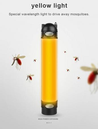 Lanterna LED SupFire T3, Pentru Camping, lumina anti insecte, 3600 mAh, 6 moduri, IP46, incarcare USB, functie Powerbank [5]