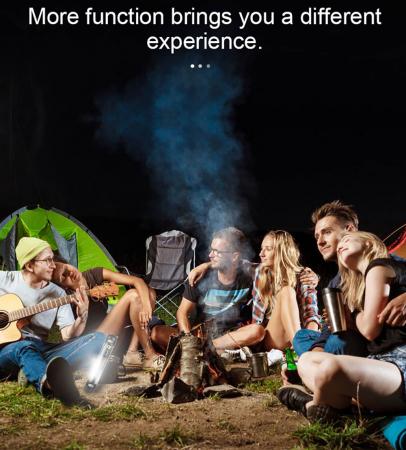 Lanterna LED SupFire T3, Pentru Camping, lumina anti insecte, 3600 mAh, 6 moduri, IP46, incarcare USB, functie Powerbank [8]